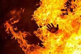 حرق طفل حيا بغزة
