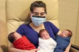 مصابة بكورونا تهزم الفيروس وتنجب 3 توائم