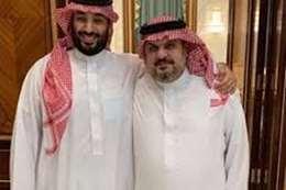الأمير بن مساعد مع ولي العهد السعودي