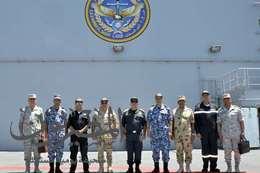 رئيس أركان حرب القوات المسلحة المصرى و اليونانى يشهدان التدريب البحرى