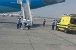 الطائرة الفرنسية بمطار القاهرة