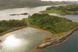 """جزيرة """"Eilean Nan Gabhar"""" قبالة سواحل اسكتلندا"""