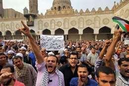 مظاهرات بالجامع الأزهر نصرة للقدس