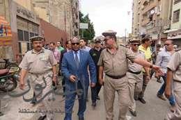 """مدير أمن الغربية يقود حملة على """"التوك توك"""" بطنطا"""