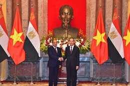 السيسي ورئيس فيتنام