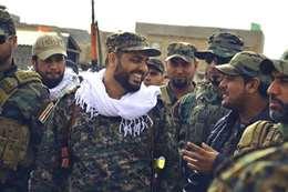 """قيس الخزعلي زعيم مليشيا"""" عصائب أهل الحق العراقية"""""""