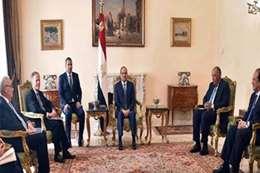 لقاء الرئيس السيسي بالوفد الإيطالي