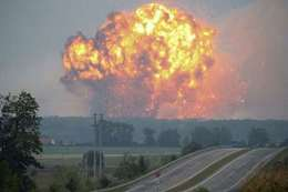 إنفجارات في مستودع ذخيرة للجيش الروسي