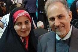 رئيس بلدية طهران السابق محمد على نجفي وزوجته