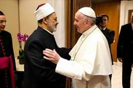 قاء شيخ الأزهر ببابا الفاتيكان