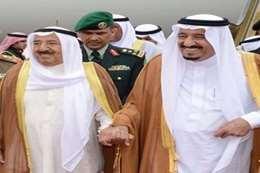 الملك سلمان  و أمير الكويت