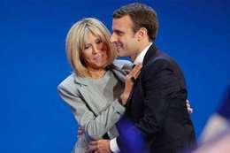 الرئيس الفرنسي ماكرون وزوجته بريجيت