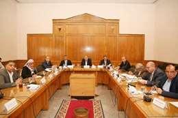 وزير الري خلال اجتماعه بلجنة تنظيم إيراد نهر النيل