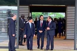 إمبراطور اليابان في استقبال الرئيس عبد الفتاح السيسي