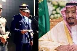 الملك سلمان ومديرة الشرطة