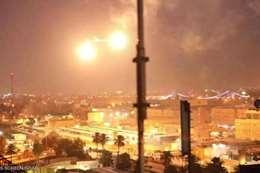 صاروخ يستهدف المنطقة الخضراء بالعراق