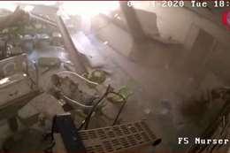 فيديو جديد يظهر انهيار مستشفى على الموظفين والمرضى في انفجار بيروت