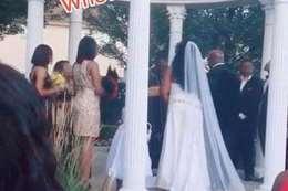 فيديو... امرأة تقتحم حفل زفاف وتصدم العريس بأمر غير متوقع