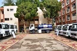 تدشين  المعدات الجديدة بمقر شركة مياه الشرب والصرف الصحي بأسوان