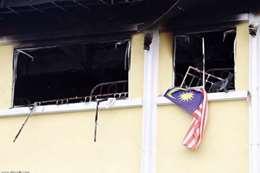 حريق مدرسة لتحفيظ القرآن
