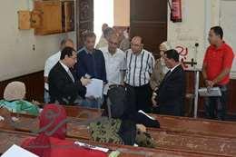 رئيس جامعة بورسعيد يتفقد بدء الدراسة