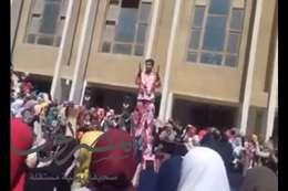 حفلة رقص بجامعة الأزهر بالزقازيق
