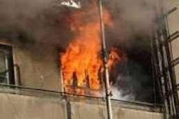 حرق شقة بالفيوم