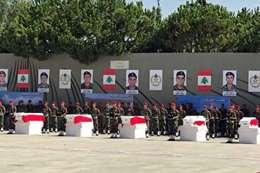 جنازة الجنود فى لبنان