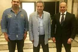 توفيق عكاشة مع تامر مرسي وياسر سليم