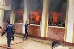 بعد إخلائها.. ماس كهربائي وراء حريق مدرسة بنجع حمادي