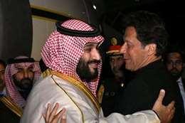 رئيس الوزراء الباكستاني وولي العهد السعودي في لقاء سابق