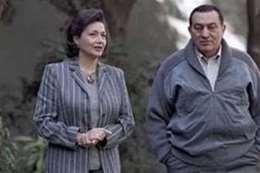 مبارك وزوجته سوزان