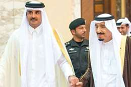 أمير قطر وملك السعودية