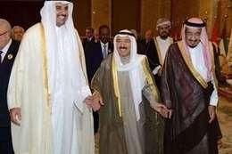 أميرا الكويت وقطر والملك سلمان