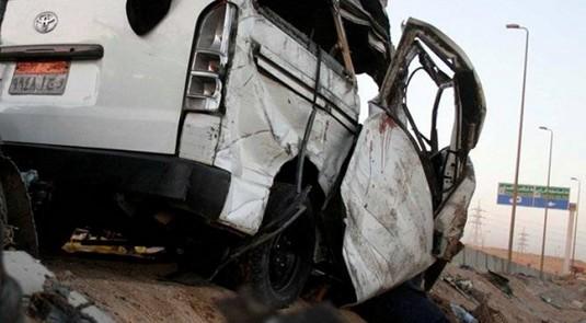 مصرع وإصابة 13 في حادث مروع بطريق المشير