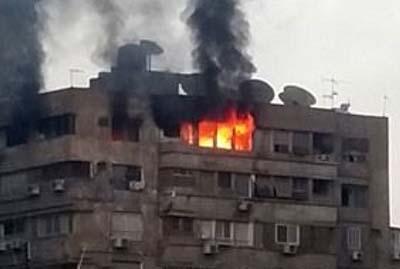 حريق شقة سكنية بالهرم