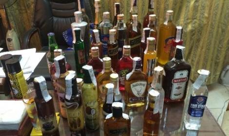 التحفظ على 2620 زجاجة خمور بالإسكندرية