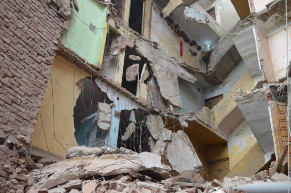 انهيار منزل دون إصابات بالمنوفية