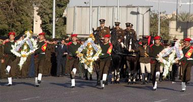 جنازة عسكرية بسوهاج لضحية تفجير مديرية أمن القاهرة