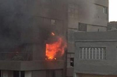 السيطرة على حريق شقة ببولاق الدكرور