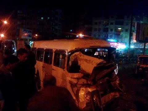 بالصور.. إصابة 15 شخصًا في حادث مروري بالقليوبية