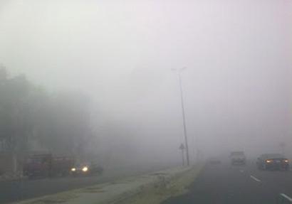 إغلاق طريق مصر إسكندرية الصحراوى بسبب الشبورة المائية