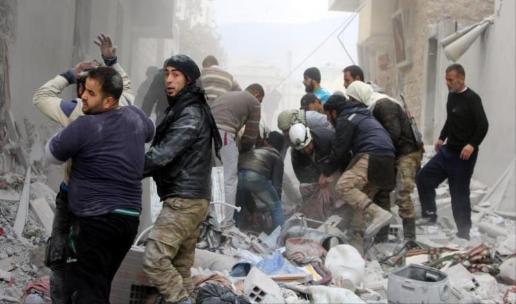 """مقتل 9 مدنيين في غارات للنظام وروسيا على """"إدلب"""""""