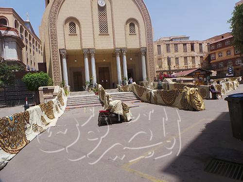 بالصور.. مرقسية الإسكندرية تتزين لقداس القيامة