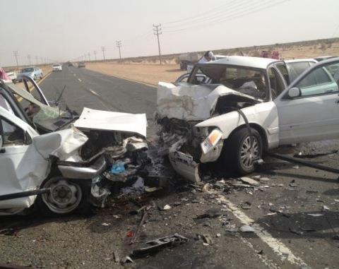 مصرع شخصين في حادث مروري ببورسعيد