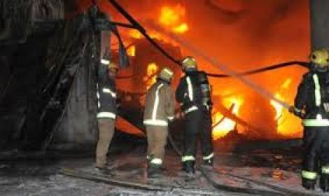 السيطرة على حريق هائل بأحد أبراج الأوقاف