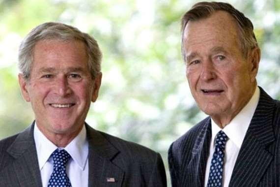 جورج بوش الاب والابن