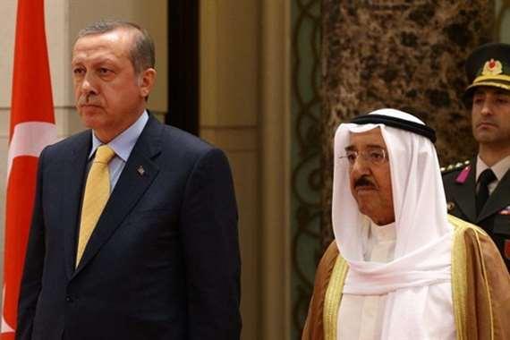 أمير الكويت وأردوغان