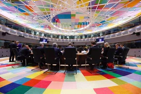 جانب من اجتماع قادة الاتحاد الأوروبي