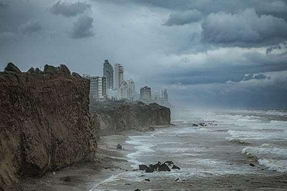 عاصفة جوية تضرب إسرائيل